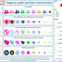 Regions, pupils and their characteristics 2012-2014